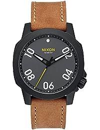 Nixon Ranger 40 Leather, Color: Black / Gunmetal / Natural, Talla: One Size