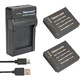 newmowa DMW-BCM13Batería (2-Pack) y Kit Cargador Micro USB portátil para Panasonic DMW-BCM13, DMW-BCM13E, DMW-BCM13PP y, DMC-LZ40, Panasonic Lumix DMC-FT5, DMC-TS5DMC-TZ37, DMC-TZ40, DMC-TZ41, DMC-TZ55, DMC-TZ60, DMC-ZS27, DMC-ZS30, DMC-ZS35DMC-ZS40, DMC-ZS50