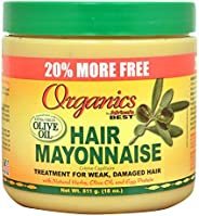 ORGANICS NATURAL CONDITIONING HAIR MAYONAISE WITH BASES OF OLIVE OIL. FOR PLEASENT AND BEAUTIFUL HAIR. 521ML VIYA