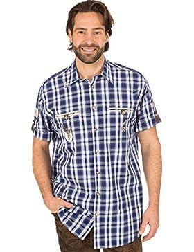 orbis Textil OS-Trachten Trachtenhemd 921002-2917 Halbarm Blau