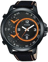 Pulsar Herren-Armbanduhr XL Pulsar X Analog Quarz Leder PX8007X1