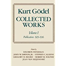 Collected Works: Volume I: Publications 1929-1936 (Collected Works (Oxford))
