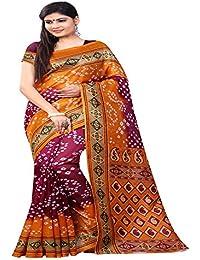 SilverStar Bhagalpuri Printed Bandhni Multi-Color Design Printed Party Wear Wedding Wear Bollywood Sari Latest...