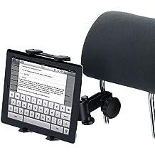 """Tomkity Soporte para Tablet con Adaptador para Reposacabezas de Coche - Compatible con Ipad, Samsung Galaxy y otras Tabletas de 6-11"""". Negro"""