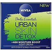 NIVEA Urban Detox Night Gel Cream, 50 ml, paquete de 3