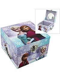 Disney Joyero musical con diseño de Frozen, con imágenes de Elsa y Anna