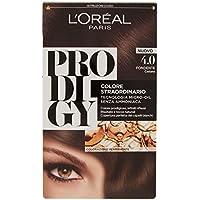 L'Oréal Paris Prodigy Colorazione Permanente senza Ammoniaca, Risultato Colore Naturale, 4.0 Fondente Castano