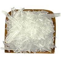 Cristales de mentol, Cristales hielo grandes, Mentol, Menta 100% puros - Calidad farmacéutica para infusiones de sauna - contenido 50g