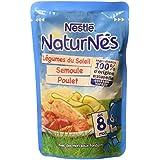 Nestlé Bébé Naturnes Légumes du Soleil/Semoule/Poulet Plat Complet dès 8 Mois Sachet de 190 g
