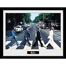 Los Beatles - Abbey Road Póster De Colección Enmarcado (40 x 30cm)