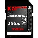 Komputerbay à 256 Go High Speed SDXC Class 10 UHS-I, U3 jusqu'à 95 Mo / Sec Flash Card