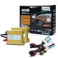 Sannysis® 2pcs Bombilla H7 Xenon HID Luz Blanca 55W 12V + lastre Conversión Set (12000K)