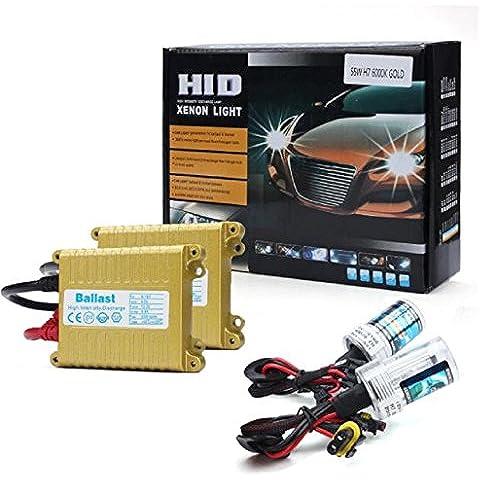 Sannysis® 2pcs Bombilla H8/H9/H11 Xenon HID Luz Blanca 55W 12V + lastre Conversión Set (6000K)