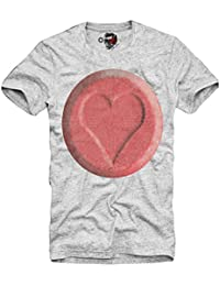 E1SYNDICATE T-SHIRT XTC RED DEFQONS DANCE MDMA ECSTASY TUNE IN RAVE LOVE GRIS S-XL