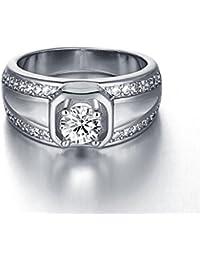 AMDXD Schmuck Vergoldet Damen Ringe (Eheringe) Runde Geometrische Form Gr.57 (18.1)