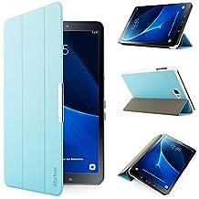 iHarbort® Samsung Galaxy Tab A 10.1 Funda - ultra delgado ligero Funda de piel de cuerpo entero para Samsung Galaxy Tab A 10.1 pulgada (2016 Version SM-T580N SM-T585N) con la función del sueño / despierta (Galaxy Tab A 10.1, azul claro)