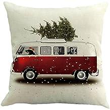 Dekoration Loveso Halloween Weihnachten Startseite Sofa Deko Kissenbezug  Santa Christmas Tree Snowman Hexe Katzen Kürbis Kissenbezug