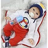 Nuevo NPK regalo de Navidad recién nacido realista del bebé de los niños del juguete del bebé de las muñecas del bebé del silicón suave de 55 pulgadas 55cm