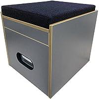 Baños taburete con porta Potti 145–Acolchado Azul Espacio taburete