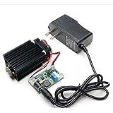Q-baihe enfocable 450 nm 2W 2000mw línea azul del módulo láser de W / Driver + Adaptador de refrigeración del ventilador + TTL + 12V