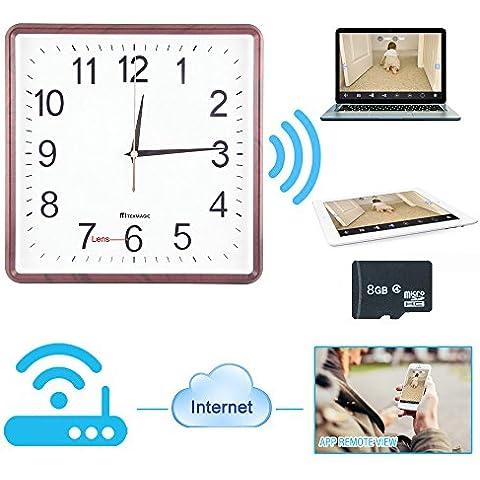 TEKMAGIC 8GB 720P HD Wifi Reloj con el Videocámara Oculta Espía Detección de Movimiento Grabadora de Vídeo Interior Inalámbrico Videocámara para el iPhone iPad Android APP Vista Remota