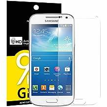 Verre Trempé Galaxy S4 MINI, NEWC® Film Protection en Verre trempé écran Protecteur vitre - ANTI RAYURES - SANS BULLES D'AIR -Ultra Résistant (0,33mm HD Ultra transparent) Dureté 9H Glass Screen Protector pour Galaxy S4 MINI