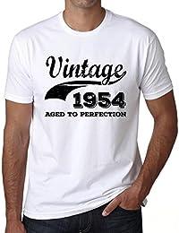 Vintage Aged to Perfection 1954, regalo cumpleaños hombre, camisetas hombre cumpleaños, vendimia añejado a la perfección camiseta hombre, camiseta regalo, regalo hombre