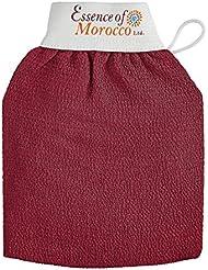 Gants de Gommage Kessa Marocain pour l'exfoliation de la peau. Marque: Essence of Morocco (1 Gant)
