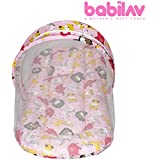 Babilav Toddler Mattress With Mosquito Net And Bedding Set, Small (Pink, 0-3 Months)