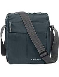 DAHSHA Nylon Cross Body Messenger Sling Bag Travel Office Business Messenger one Side Shoulder Bag for Men Women (Rock Garden Grey, 20 X 9 x 26 cm)