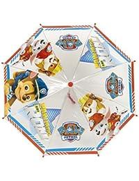 Paraguas de la Patrulla Canina - 46 cms - Transparente Azul y Rojo