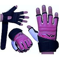 EVO - Damen Handschuhe aus REX Leder/Gel für MMA, Boxen, Sandsack, Kampfsport, Karate