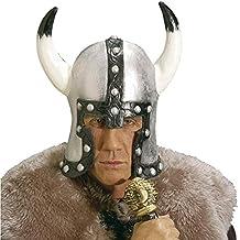 NET TOYS Elmo da vichingo con corna guerriero elmetto barbari copricapo  vichinghi casco latex combattente medievale 0716aa22f26f