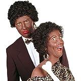 Negra rizos Afro peluca negro años 80Afro peluca para Carnaval