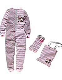 One Direction 1D Onesie Set * Girls 12-13 Years / All-in-One Sleepover Kit includes 1D Onesie with matching Tote Bag and Non-Slip Slipper Socks