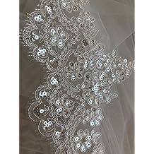 Vestido de encaje floral para novia/boda, flor, bordado, tela, mantel