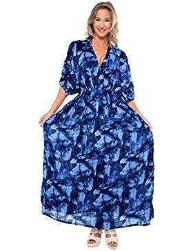 La Leela Designer rayon mano batik costumi da bagno del bikini beachwear femminile coprire abito marina caftano
