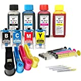 Kit de recarga para cartuchos de tinta HP 364, 364 XL negro y color + adaptadores de recarga, incluye accesorios