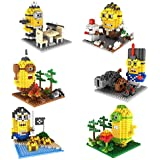 Ricco 602 6-in-1 Combo Little Yellow Guys Gift Pack of Pixel Blocks Toy Kids Bricks Craft (2170-Piece) by Ricco
