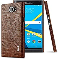 For BlackBerry Priv - Imak Crocodile PU Leather Back Hard Case Shell Cover For BlackBerry Priv Brown