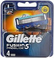 Gillette Fusion 5 ProGlide Cuchillas de Afeitar Hombre con Tecnología FlexBall, Paquete de 4 Cuchillas de Reca