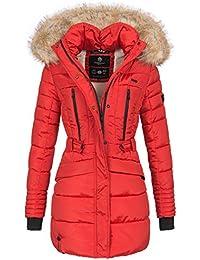 Marikoo Damen Winter Jacke Parka Mantel Winterjacke warm gefüttert Kapuze  B608 bc72844ba0
