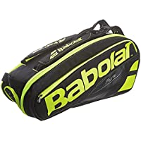 Babolat RH X 6 Pure Raquetero de Tenis, Unisex Adulto, Negro/Amarillo / Fluo, Talla Única