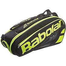 Babolat Rh X 6 Pure Fundas para Raquetas de Tenis, Unisex Adulto, Negro/Amarillo, Talla Única