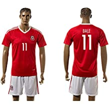 2016UEFA Euro Cup Wales 11Gareth Bale Home Football Jersey in Rot Small rot - rot