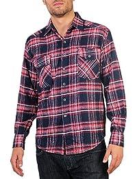 Hommes Chemises à Carreaux Ecossais Manches Longues Casual Tendance