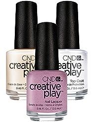 CND Creative Play I Like to Mauve it Nr. 458 13,5 ml mit Creative Play Base Coat 13,5 ml und Top Coat 13,5 ml, 1er Pack (1 x 0.041 l)