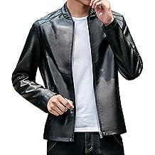 Homebaby Giacca in Pelle da Uomo Classico Slim Fit Cappotti Blazer Felpe  Elegante Caldo Impermeabile Giubbini cb21b9ed56b