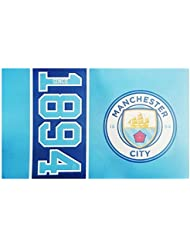 Manchester City FC football depuis 1894 drapeau partisan bleu match fan bannière