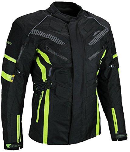*Herren Touren Motorradjacke Textil Heyberry fluorgrün Gr. L*